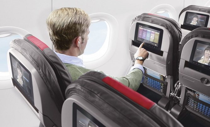 Monitores de TV de aviões podem fazer mais que entreter