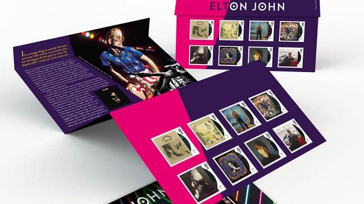 Correios do Reino Unido lançam selos em homenagem a Elton John
