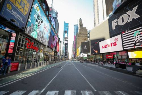 Nova York vazia por conta do coronavírus - luto de viagem