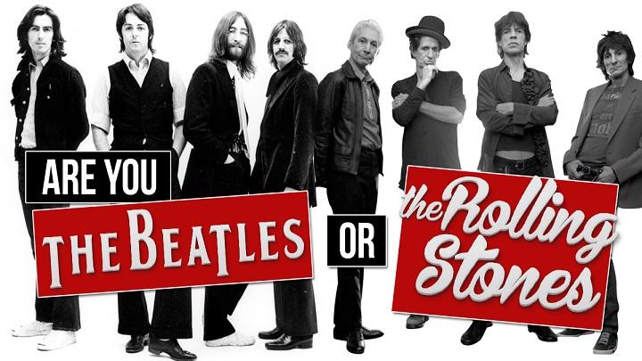 Beatles ou Rolling Stones? Escolha os dois