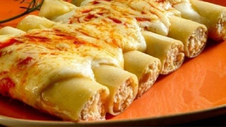 Receita: Canelone feito com massa de lasanha