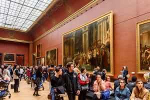 Louvre: Coroação de Napoleão antes do distanciamento