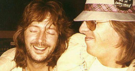 Jamie Oldaker e Eric Clapton nos anos 70