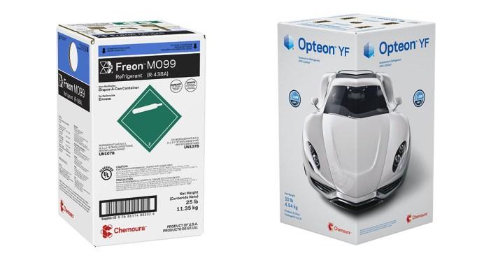Fluidos refrigerantes Chemours Freon MO99 e Opteon YF
