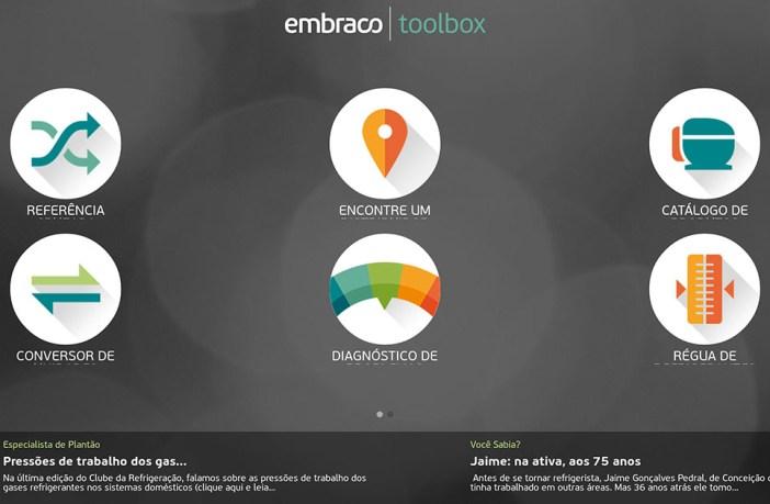 Aplicativo Embraco Toolbox