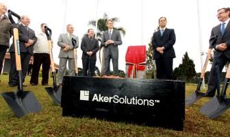 Lançamento da pedra fundamental da nova planta da Aker Solutions no Paraná