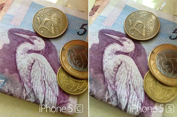 Comparação de fotos 5s e 5c