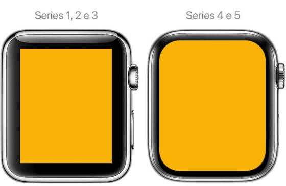 Telas Apple Watch diferenças