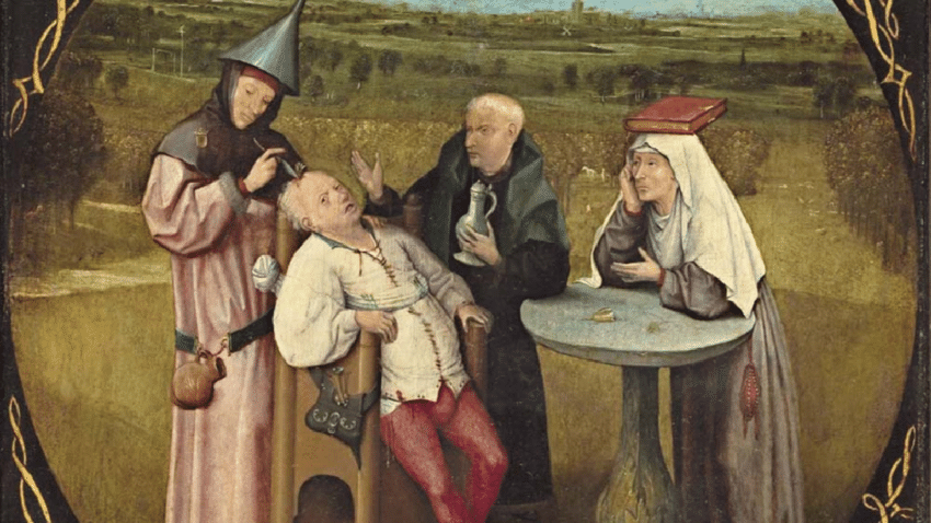 Hieronymous-Bosch-The-Extraction-of-the-Stone-of-Madness-1501-1505-Museo-Nacional-El