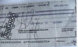 cheque corinthians