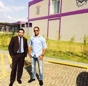 Wesley (Marcos) e Padrinho no CT do Corinthians