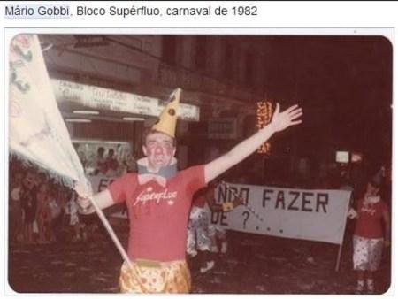 gobbi 1982 carnaval jaú bloco superfluo
