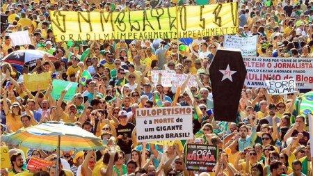 Manifestação na Avenida Paulista pedindo nossa libertação, após prisão arbitrária em 2015