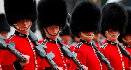British soldiers, members of the House Guards participate at the Changing of the Guard ceremony, in the forecourt of Buckingham Palace in central London, Monday, June 16, 2014. Changing the Guard is one of the oldest and most familiar ceremonies associated with the Royal Palaces. In 1689, the court moved to St James's Palace, which was guarded by the Foot Guards. When Queen Victoria moved into Buckingham Palace in 1837, the Queen's Guard remained at St James's Palace, with a detachment guarding Buckingham Palace, as it still does today. (AP Photo/Lefteris Pitarakis) ORG XMIT: LLP108