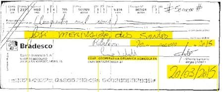 cheque merenda