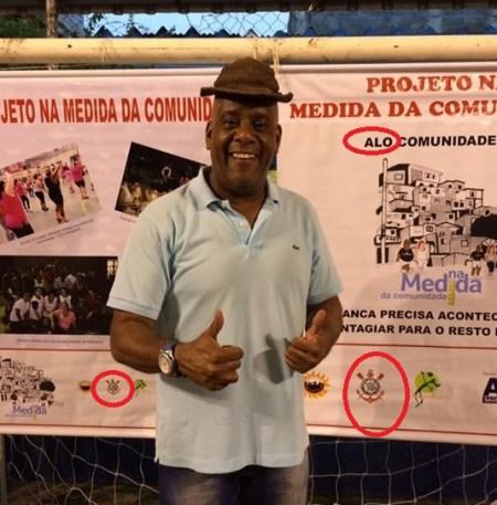 André Negão, em campanha para Deputado Estadual, na favela de Heliópolis