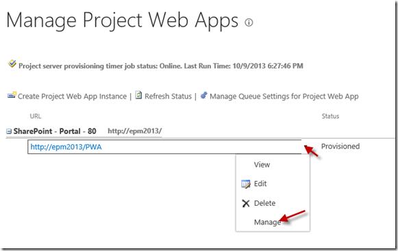 Criação Cubo OLAP Project Server 2013