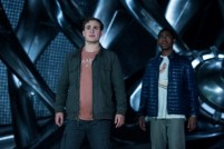 """Dacre Montgomery as """"Jason"""" and RJ Cyler as """"Billy"""" in SABAN'S POWER RANGERS. Photo by Kimberly French."""