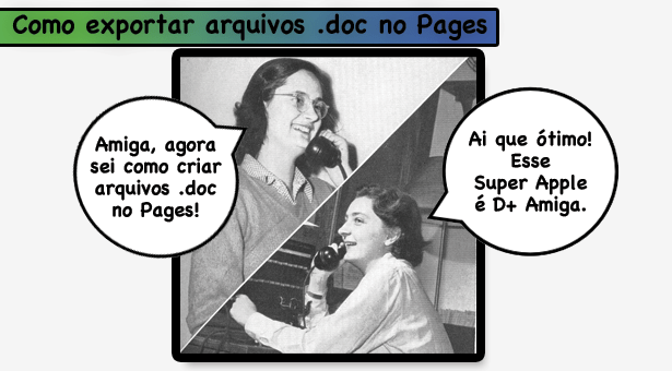 Como exportar arquivos .doc no Pages