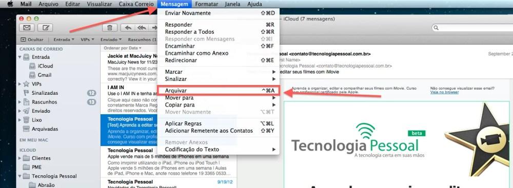 Como arquivar mensagens de email para ler mais tarde no Mac