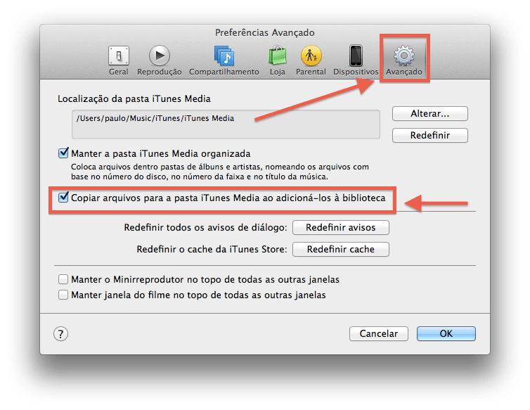 como fazer o backup da biblioteca do seu iTunes