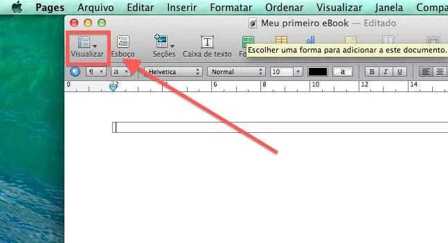 como escrever um eBook utilizando o Pages