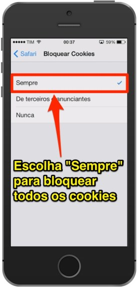 Aprenda a bloquear definitivamente os cookies no Safari do iPhone e iPad