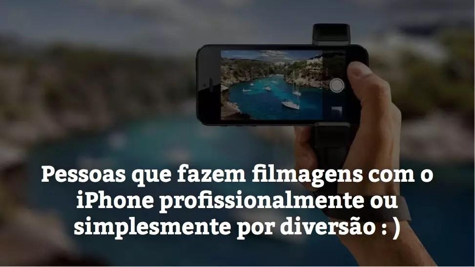 filmar com o iphone