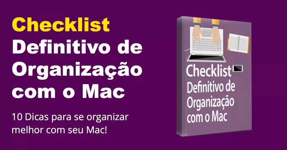 organize a vida com o mac