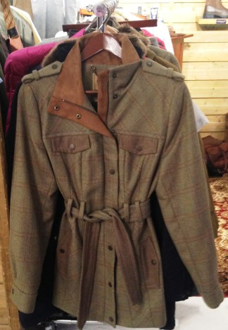 A belt adds a high-fashion element to this class Dubarry of Ireland coat