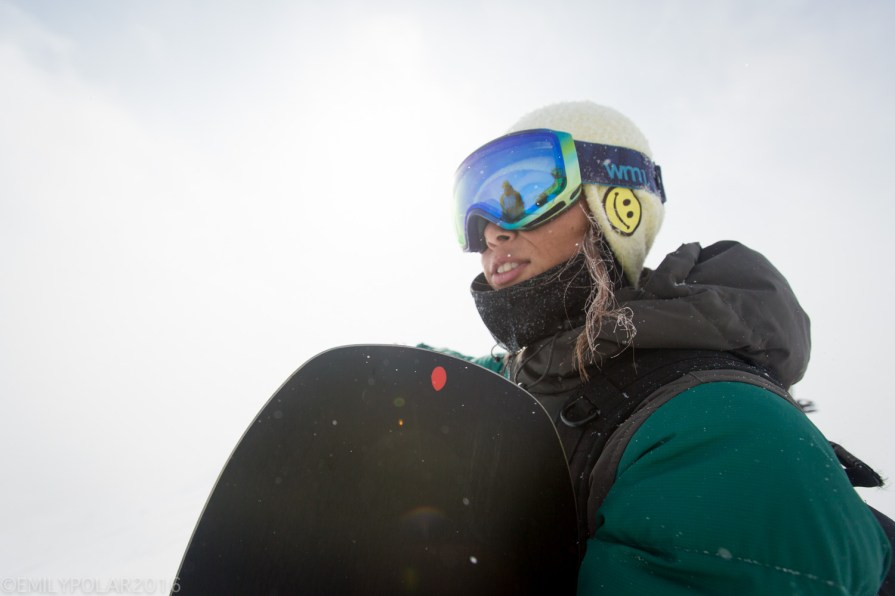 Portrait of a Japanese woman rider living in Niseko, Japan.
