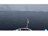 The first sight of icebergs left a lasting impression on me, which was quickly overshadowed by the knowledge that I was setting foot on the southernmost continent on Earth. Credits: The 2041 Foundation—SandraMarichal