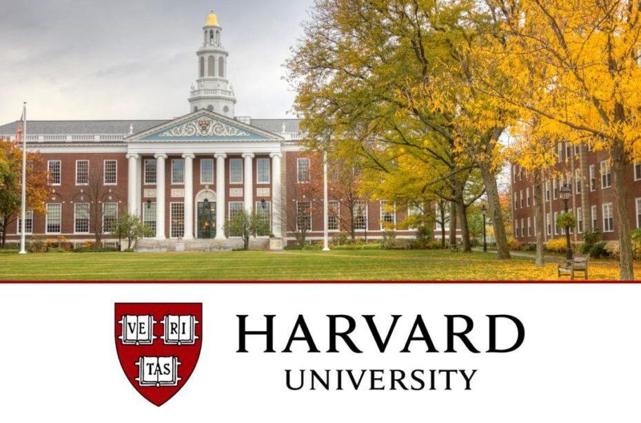harvard business school imagem da faculdade com o logo de harvard abaixo