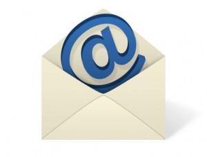 Email Envelope on White background