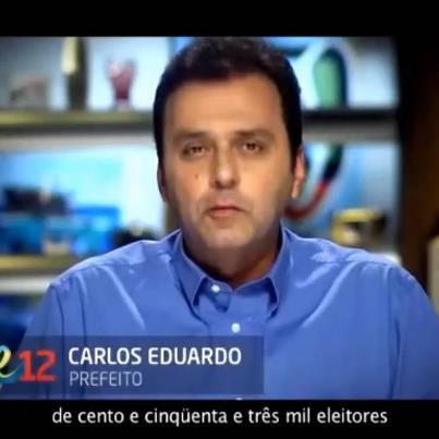 Carlos Eduardo no primeiro programa do segundo turno