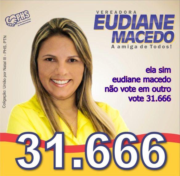 Eudiane Macedo ainda é desconhecida na política
