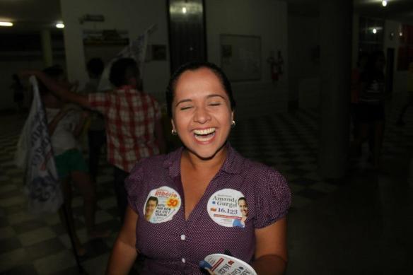 O sorriso da vitória de Amanda Gurgel