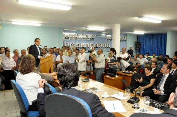Presidente da Câmara dos Deputados, Henrique Alves discursou em Mossoró Foto Carlos Costa (13)