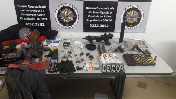 Foto do arsenal divulgada pela Polícia Civil do RN