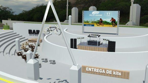 Sunset Receptivo, um local planejado para os esportistas receberem os kits composto por camiseta, mochila e comenda de participação, na Ilha de Santana.