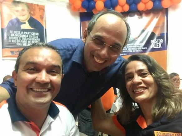 Kelps, Fernando e Magnólia juntos em 2018