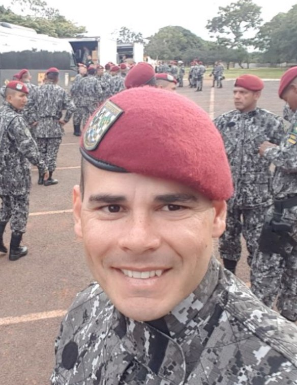 Capitão Romualdo Galvão da PM do RN foi destaque em curso da Força Nacional em Brasília