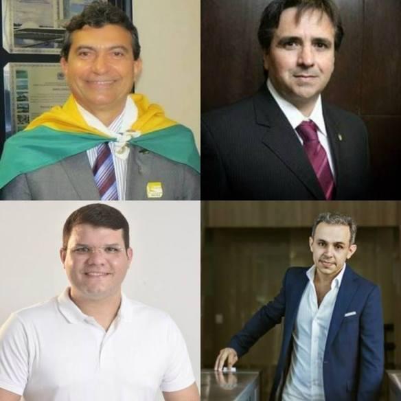 Jackson, Salismar, Breno e Lawrence. Excelentes prefeitos que agora podem chegar ao Governo e à Câmara Federal e Estadual