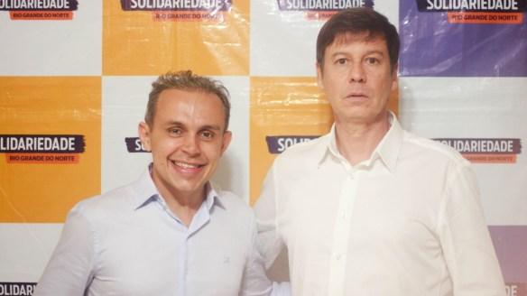 Brenno é candidato a governador. Delegado Sérgio é candidato a vice.
