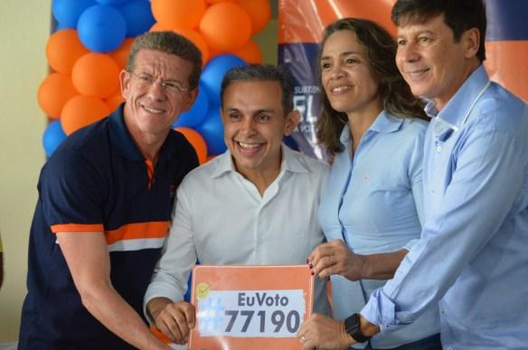 Eliabe, Brenno, Magnólia e Delegado Sérgio Leocádio