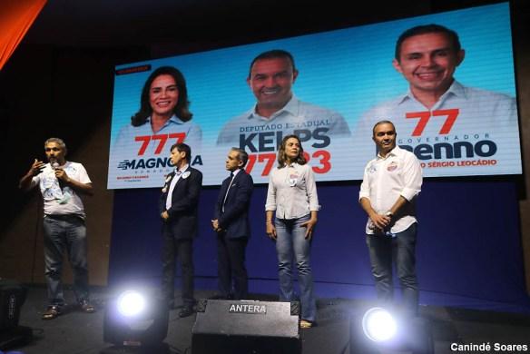 Delegado Sérgio Leocádio, Brenno Queiroga, Magnólia e Kelps em evento no Olimpo