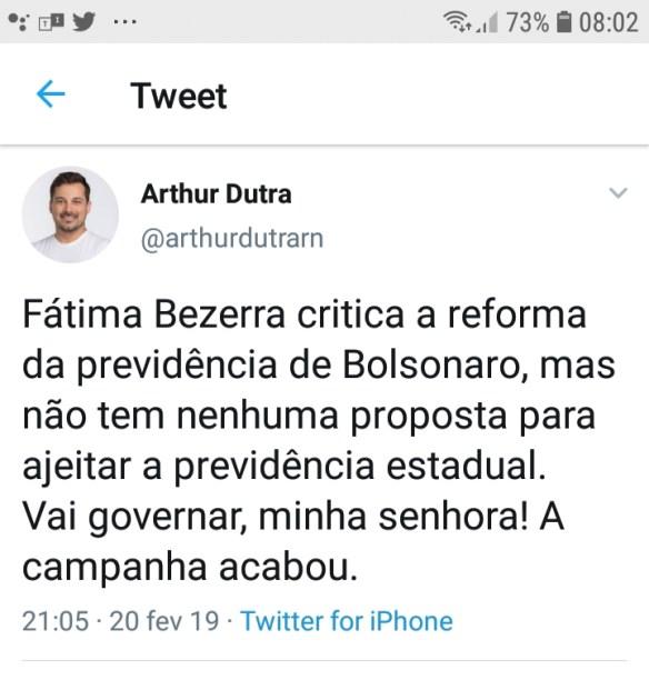 Arthur Dutra foi candidato a deputado federal no RN pelo Solidariedade