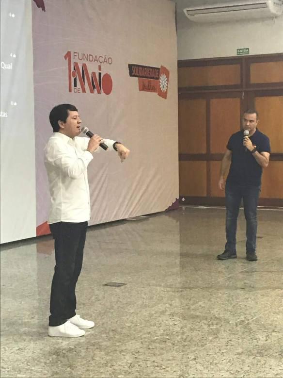 Jornalista Washington Rodrigues explica, em São Paulo, como o Solidariedade faz comunicação de campanha em Natal