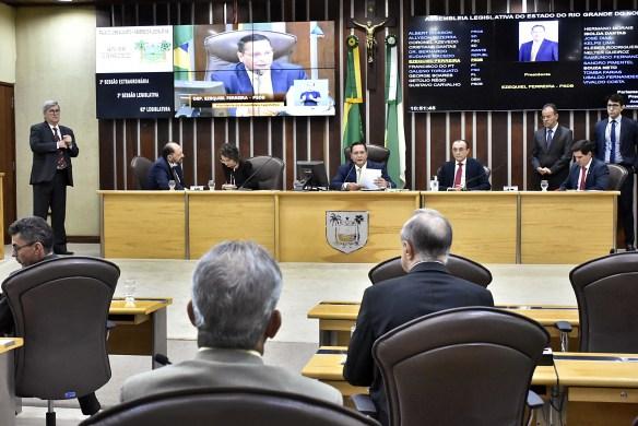 Plenário da Assembleia Legislativa na Cidade Alta, em Natal, RN