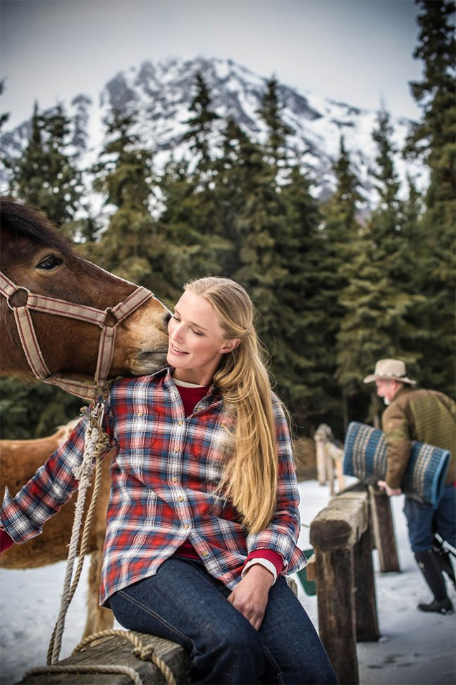Real Women Model Nora gets a horse kiss